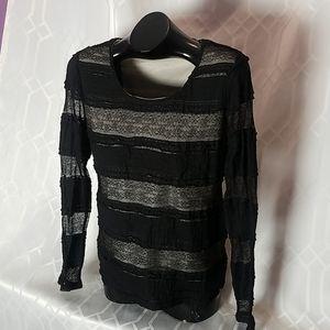 Terra Nostra Femme Black & Tan polyester top sizeL